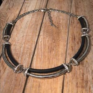 Chloe + Isabel leather collar necklace